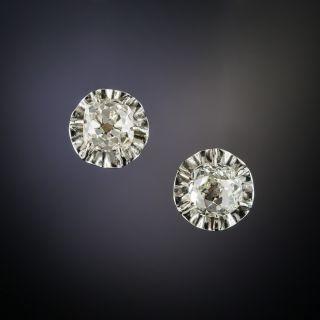 Vintage 1.40 Carats Diamond Stud Earrings - 2