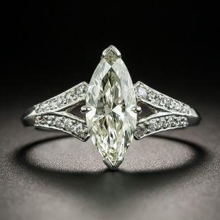 Vintage 1.44 Carat Marquise Diamond Engagement Ring - GIA - 2