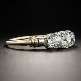 Vintage 1.45 Carat Three-Stone Diamond Ring