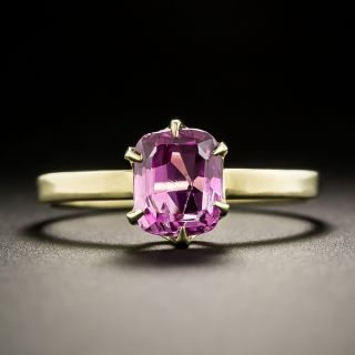 Vintage 1.50 Carat Pink Sapphire Solitaire Ring - 1