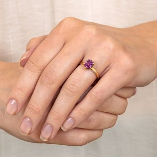Vintage 1.50 Carat Pink Sapphire Solitaire Ring