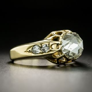 Vintage 1.50 Carat Rose-Cut Diamond Ring