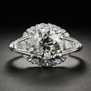Vintage 1.65 Carat Diamond Engagement Ring, Circa 1940s-1950s - 1