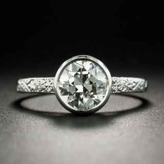 Vintage 1.65 Carat Diamond Solitaire Engagement Ring - GIA H SI2 - 2