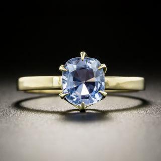 Vintage 1.65 Carat No-Heat Ceylon Sapphire Solitaire Ring - 3
