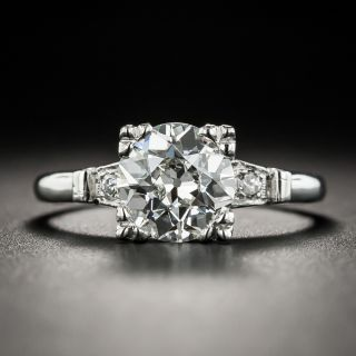Vintage 1.69 Carat Diamond Platinum Engagement Ring -  GIA  I VS1  - 2