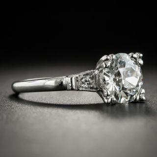 Vintage 1.69 Carat Diamond Platinum Engagement Ring - GIA  I VS1