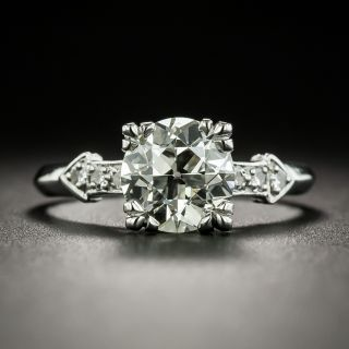 Vintage 1.81 Carat Diamond Platinum Engagement Ring - GIA K VS2 - 2