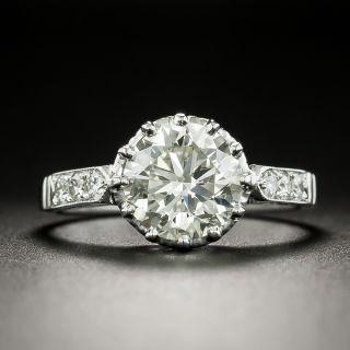 Vintage 1.84 Carat Diamond Engagement Ring - GIA M VS1 - 3