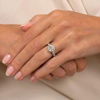 Vintage 1.84 Carat Diamond Engagement Ring - GIA M VS1