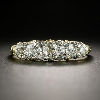 Vintage 18K Five-Stone Diamond Ring - 2