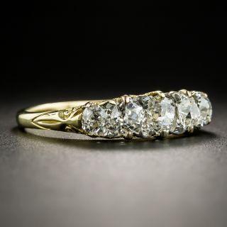 Vintage 18K Five-Stone Diamond Ring - Size 9 1/4