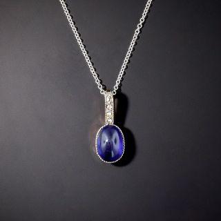 Vintage 2.00 Carat No-Heat Cabochon Sapphire Drop - 1