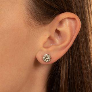 Vintage 2.03 Carat Diamond Stud Earrings - GIA G SI2/I1
