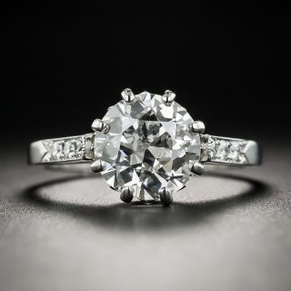 Vintage 2.12 Carat European-Cut Diamond Ring - GIA H SI1 - 1