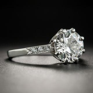 Vintage 2.12 Carat European-Cut Diamond Ring - GIA H SI1