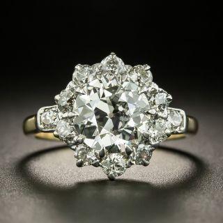 Vintage 2.17 Carat Center Diamond Cluster Engagement Ring -  GIA K VVS2 - 3