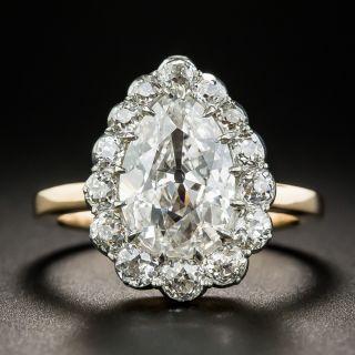 Vintage 2.19 Pear Shape Diamond Ring - GIA G SI2 - 2