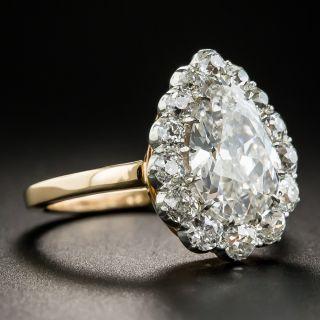 Vintage 2.19 Pear Shape Diamond Ring - GIA G SI2