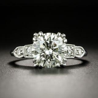 Vintage 2.24 Carat Diamond Engagement Ring - GIA N VS2 - 1