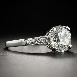 Vintage 2.36 Carat Diamond Platinum Engagement Ring - GIA J SI2