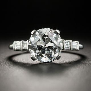 Vintage 2.38 Carat European-Cut Diamond Engagement Ring - GIA - 1