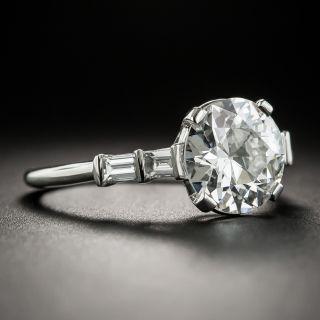 Vintage 2.38 Carat European-Cut Diamond Engagement Ring - GIA