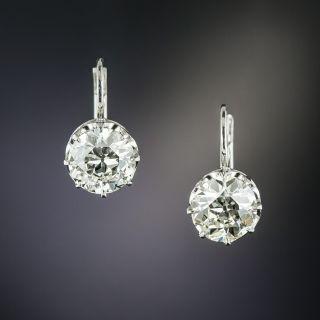 Vintage 2.41 Carat Diamond Solitaire Earrings - GIA - 2