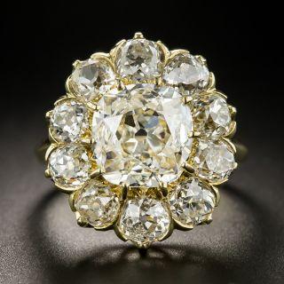 Vintage 2.47 Center Diamond Cluster Ring - GIA J VS1 - 2