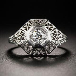 Vintage .25 Carat Diamond Engagement Ring - 2