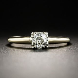 Vintage .27 Carat Diamond Solitaire Engagement Ring - 2