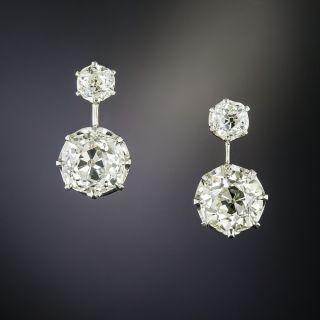 Vintage  3.26 Carat Total Weight Diamond Earrings  - 2