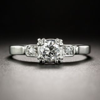 Vintage .35 Carat Platinum Diamond Engagement Ring