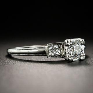 Vintage .38 Carat Diamond Platinum Engagement Ring