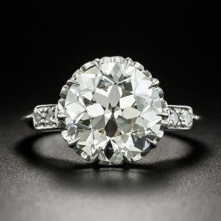 Vintage 4.44 Carat Solitaire Diamond Engagement Ring - GIA K VS1 - 2