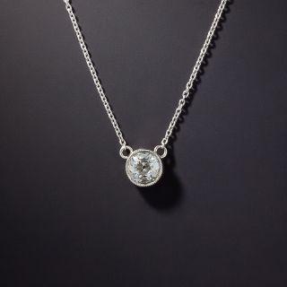 Vintage .40 Carat Diamond Solitaire Pendant - 1