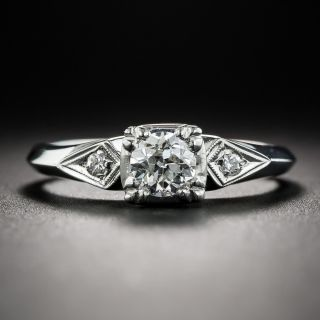 Vintage .42 Carat Diamond Platinum Engagement Ring