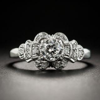 Vintage .45 Carat Diamond Platinum Engagement Ring - 2