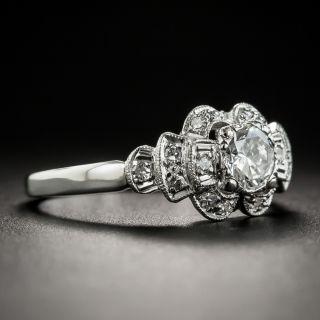 Vintage .45 Carat Diamond Platinum Engagement Ring