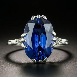Vintage 5.50 Carat Sapphire Ring - 2