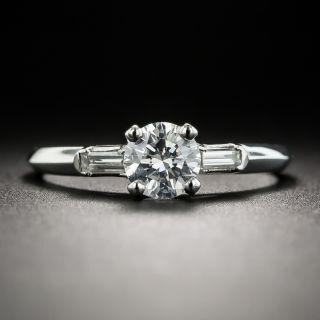 Vintage .50 Carat Diamond Platinum Engagement Ring - 2