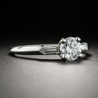 Vintage .50 Carat Diamond Platinum Engagement Ring