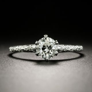 Vintage .58 Carat Diamond Solitaire Engagement Ring - GIA I VS2 - 3