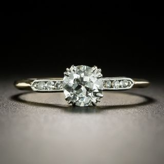 Vintage .68 Carat Diamond Solitaire Engagement Ring - GIA G VS1 - 3