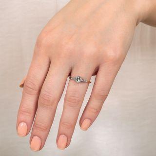 Vintage .68 Carat Diamond Solitaire Engagement Ring - GIA G VS1
