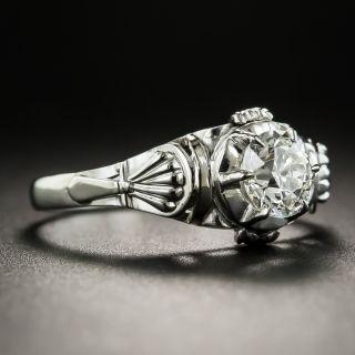 Vintage .68 Carat Solitaire Diamond Engagement Ring - GIA K SI1