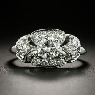Vintage .70 Carat Diamond Engagement Ring, Circa 1930s - 2
