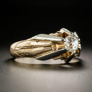 Vintage .72 Carat Diamond Unisex Ring