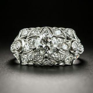 Vintage .75 Carat Diamond Platinum Engagement Ring - 2