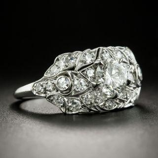 Vintage .75 Carat Diamond Platinum Engagement Ring